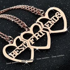 Rose Gold Heart Necklaces Best Friends Sisters - Xmas Gifts For Her BLACK FRIDAY