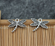 50/200pcs Tibetan Silver  Delicate Dragonfly Jewelry Charms Pendant 18x15mm