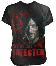 Official Walking Dead DARYL ALL INFECTED T-Shirt Black 3D/Ripped/TWD/Licensed