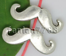 Hot 10/50/250pcs Tibet silver mustache Interval Charm Spacer Beads 16x6mm F
