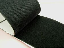 1M x BLACK 100mm Width SELF Adhesive HOOK and LOOP Fastener TAPE