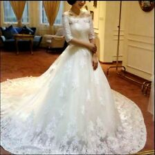 New Lace White Ivory Wedding Gown Bridal Dresses Custom size 2 4 6 8 10 12 14 16