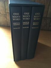 One Man's Word Selected Works of Simon H Rifkind 3 vols