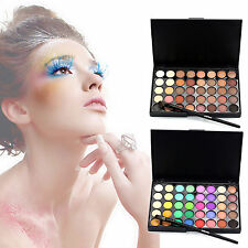40 Colors Shimmer Eyeshadow Eye Shadow Palette & Makeup Cosmetic Brush Set