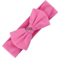 New Baby Solid Headband Bow Headband Bow Hair Band Girls Accessories KECP01
