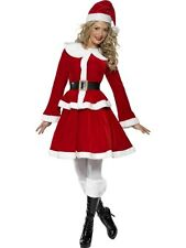 SALE! Adult Sexy Miss Santa Ladies Christmas Fancy Dress Costume Party Outfit