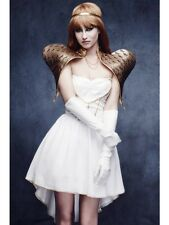 Christmas Angel Costume Ladies Sexy Deluxe Xmas Fancy Dress Hen Party Outfit
