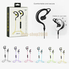 For iPhone Samsung LG Noise Cancelling Bluetooth Stereo Headset Earpiece Earbuds