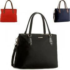 Hand bag Twin Set with removable shoulder strap in leather and fabric AS7PZ6