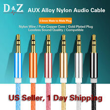 3.5mm AUX Auxiliary Cord Male to Male Stereo Audio Cable for PC iPod MP3 Car-3FT