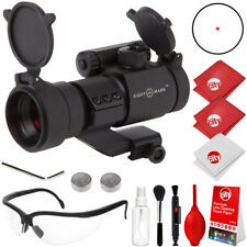 Sightmark 1x28 Tactical Red Dot Rifle Sight w/ Shooting Glasses + Kit (SM13041)