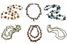 Freshwater Pearl Boutique Luster Shell Bead Necklaces VTG Retro Victorian Style