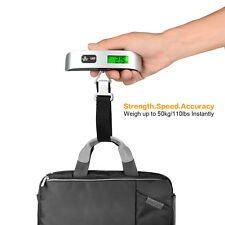 110lb/50kg LCD Digital Luggage Scale Travel Tare Portable Suitcase Bag Scale