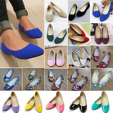 Women Ballerina Ballet Dolly Pump Ladies Flats Loafers Casual Slip On Boat Shoes