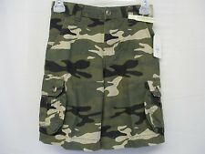 Faded Glory Boys Camo Cargo Shorts Adjustable Waist Pick your Size 4 thru 14~NWT