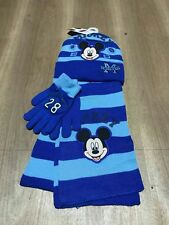 Lot Mickey Mouse knit hat Children winter knitted  scarf gloves hat set M754