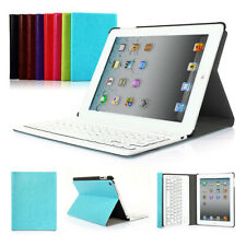 PU Leather Case Cover with Bluetooth Wireless Keyboard Stand for iPad Air mini 2