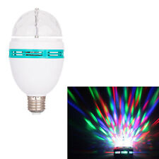 3W E27 RGB Crystal Ball Light Rotating LED Stage Bulbs Disco Party Bulb Lamp New