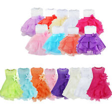 Flower Girl Toddler Baby Kids Princess Party Wedding Formal Pageant Tutu Dresses