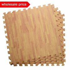 lot 24-1200 SQFT WOOD GRAIN INTERLOCKING EVA FOAM FLOOR WORK GYM MATS PUZZLE MAT