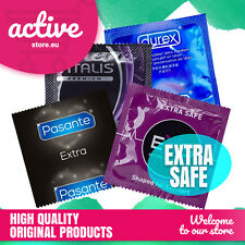 Extra Safe Condoms MAX PROTECTION - Durex EXS Pasante Vitalis - Thick and Strong