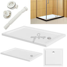 Walk In Wet Room Shower Bath Enclosure Home Shower Stone Tray With Free Waste UK
