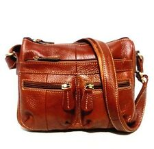 Women Vintage Pu Leather Solid Color Cross-body Soft Casual Shoulder Bag