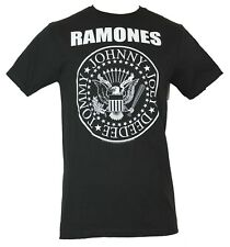 The Ramones Mens T-Shirt - Classic Circle Stamped Hey Ho Seal Image