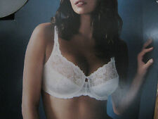 MARKS AND SPENCERS WHITE CREAM BEIGE NUDE UNDERWIRED LACE FULL CUP BRA 32 DD NEW
