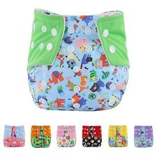 Adjustable Infant Baby Washable Cloth Diaper Soft Cover Nappies Printed Reusable