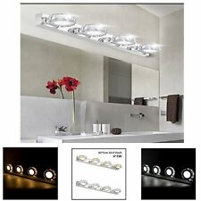 12W LED Crystal Make Up Vanity Mirror Front Light Bathroom Toilet Bedroom Lamp