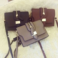 Solid Color Cell Phone Pocket Cross-body Women Small Shoulder Bag