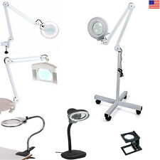 Professional Magnifying Magnifier Lamp Light Free Standing/Clamp/Table Desk Top