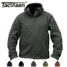Tactical Recon Full Zip Fleece Jacket Air soft Army Hoodie Security Police Coat