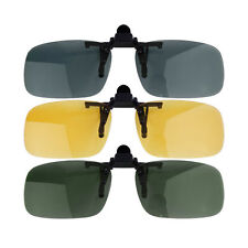 TOP ! Clip-on Lens Polarized Day Night Vision Driving Glasses Sunglasses XP
