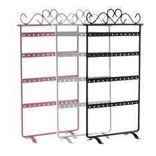24/48 Holes Metal Ears Display Show Jewelry Rack Stand Organizer Holder XP