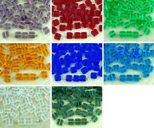 40pcs Crystal Tile One Hole Flat Square Czech Glass Beads 6mm