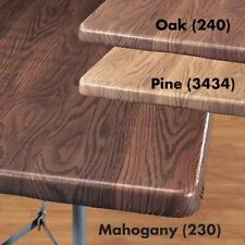 """FITTED Wood Grain Vinyl Banquet 36"""" 48x24 60x30 72x30 Card Table Cover ~"""