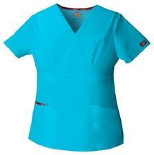 Dickies Scrubs 86806 Turquoise V Neck Scrub Top Dickies EDS Signature TQWZ