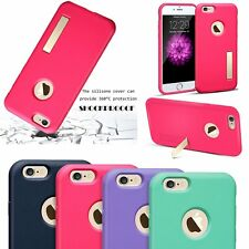 Shockproof Thin TPU Matte Case Functional Metal Kickstand For iPhone 6/6S Plus