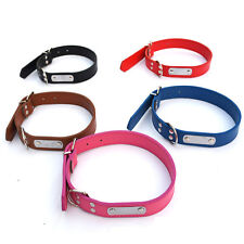 Hot Leather Pet Dog Cat Puppy Collar Neck Buckle Adjustable Neck Strap Collar