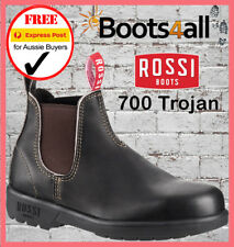 New ROSSI Trojan Work Boots Safety Steel Toe Brown Leather 700 ON SALE