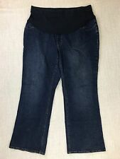 Motherhood Maternity Sz 2X Dark Wash Boot Cut Jeans Full Panel