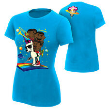 WWE AUTHENTIC THE NEW DAY FEEL THE POWER WOMENS T-SHIRT 2XL NEW FREE SHIPPING
