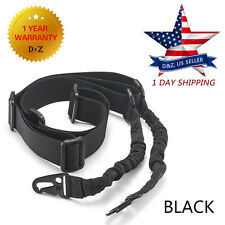 Adjustable Tactical 2 Two Point Rifle Sling Dual Bungee Quick Release BLACK