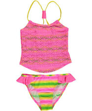 "2 B Real Big Girls' ""Eyelet Tie-Dye"" 2-Piece Tankini (Sizes 7 - 16)"