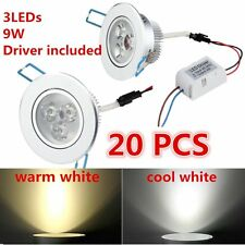 20XDimmable 9W LED Downlight Recessed Ceiling Light Lamp cool/warm white+Driver!