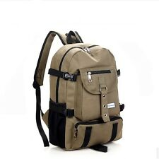 Military Style Backpack 35L With Adjustable Straps Zipper Canvas Material Solid