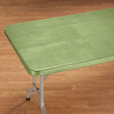 """FITTED Illusion Vinyl Banquet 36"""" Square 48x24 60x30 72x30 Card Table Cover ~"""