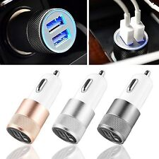 1X Mini Dual USB 2 Port Car Charger Adapter For Smart Mobile Phone Universal